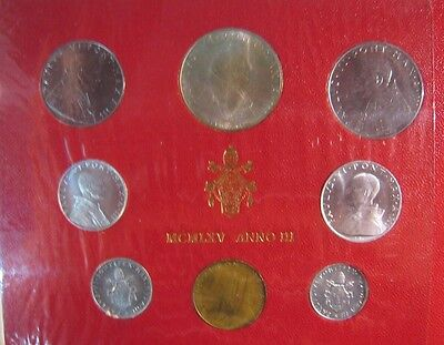 1965 Vatican City Mint Coinage Set Uncirculated 8 Coin**  FREE U.S. SHIPPING  **
