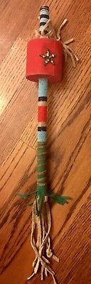 Old 1920-1930's Plains Indian / Sioux Beaded Dance Rattle