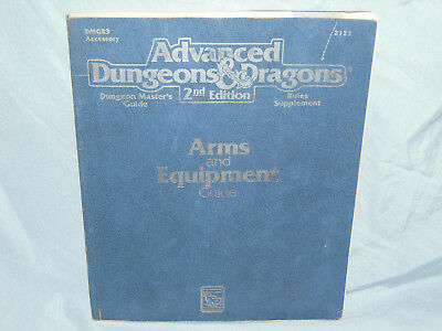 Advanced Dungeons & Dragons 2nd Ed Accessory DMGR3 ARMS AND EQUIPMENT GUIDE Used