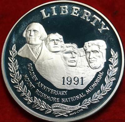 Uncirculated Proof 1991-S Mt. Rushmore Silver U.S. $1 Free S/H