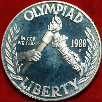 Uncirculated 1988-S San Francisco Mint Olympic Silver Dollar Free S/H!