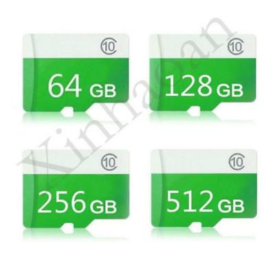 64GB 128GB 256GB 512GB Class 10 Micro SD SDHC SDXC TF Flash Memory Card Adapter