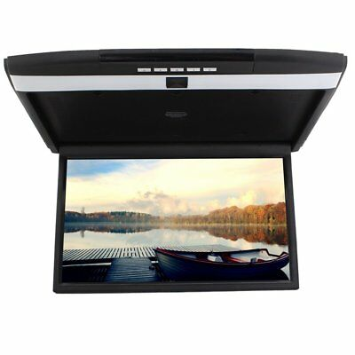 17 inch Widescreen LCD Monitor High Resolution Roof Mount Car Flip Drop Down FM