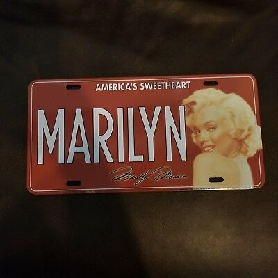 Marilyn Monroe Collector's Series License Plate America's Sweetheart