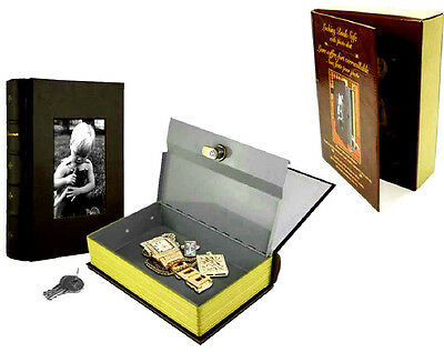 Locking Book Hidden Safe With Lock And Photo Slot