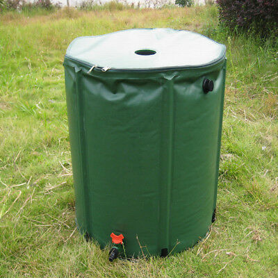 250L rain barrel PVC tarpaulin rain water tank water collector garden irrigation