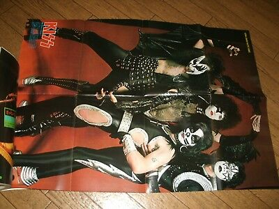 KISS, PAUL McCARTNEY/ ONGAKU SENKA (Dec.1975) w/KISS poster. Japanese Magazine