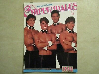 CHIPPENDALES Vintage 1990 Male Model Calendar  GOOD IN 2018!   NEW & MINT