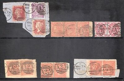 Great Britain Qv Stamps Used In Malta (A25) Collection