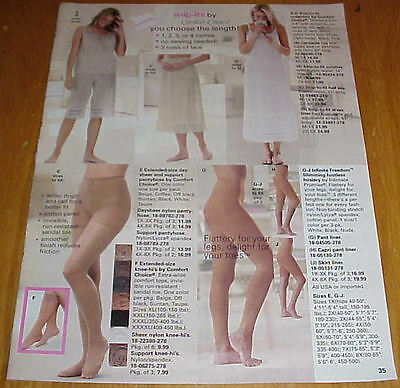 Sexy Women in Pantyhose Hosiery Slips Lot #6 of Catalog Ads Clippings #031816