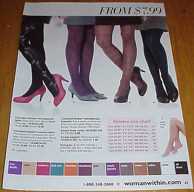 Sexy Women in Pantyhose Hosiery Slips Lot #1 of Catalog Ads Clippings #031816