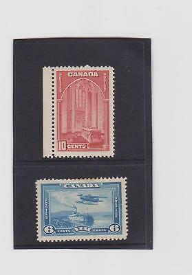 CANADA 1937,  10c and 6c  MH.