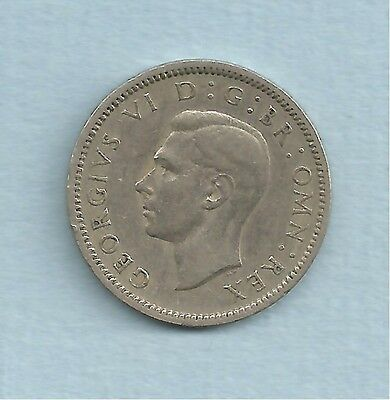 British George VI 1950 sixpence
