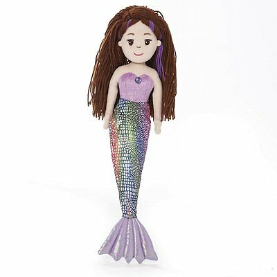 Mermaid Doll~Pearl~Soft Toy~Large 18 inch Sea Sparkles~Aurora World~Brand New