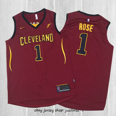 #1 Derrick Rose Basketball Jersey Cleveland Cavalier Red Like Photo