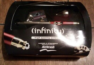 Harder & Steenbeck Infinity 2 in 1 Airbrush 0.15mm & 0.4mm 126543 Excellent cond