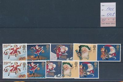 LH09383 Great Britain Santa christmas fine lot MNH face value 5,12£