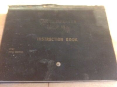 Original Tank Cruiser Lnstruction Book
