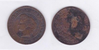 5 cts ceres 1880