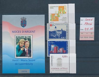 LH09490 Luxembourg 2006 nice lot of stamps MNH face value 4,9 EUR