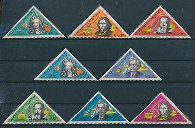 LH12819 Paraguay famous scientists space triangular lot MNH