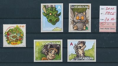 LH09511 Luxembourg 2011 self-adhesive fine lot MNH face value 3,4 EUR