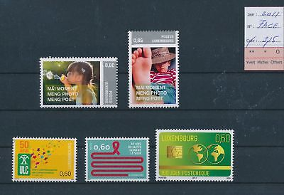 LH09512 Luxembourg 2011 nice lot of stamps MNH face value 3,15 EUR