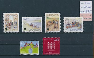 LH09514 Luxembourg 2012 nice lot of stamps MNH face value 5,45 EUR