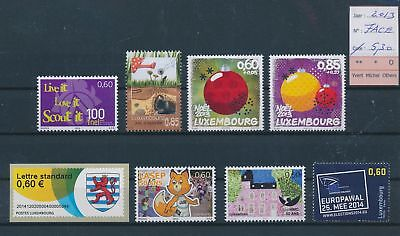 LH09517 Luxembourg 2013 nice lot of stamps MNH face value 5,3 EUR