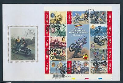 XA78498 Belgium 2004 prior motorcycles silk on FDC used