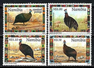 Animaux Pintades Namibie (160) série complète 4 timbres neuf** 1er choix