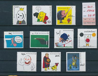 LH09567 Belgium 2011 cartoons fine lot MNH face value 7,9 EUR