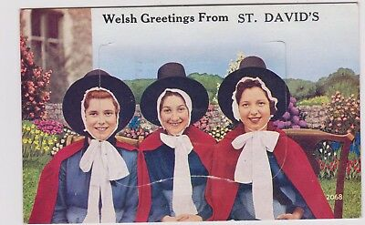 St Davids Novelty Pullout Intact Pu 1963 Welsh Ladies Costume