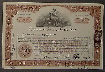 Collins Radio Company 1958 50 Shares