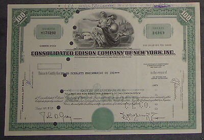 Consolidated Edison Company of New York, Inc. 1967 100 Shares