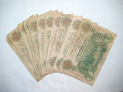 Reichsbanknoten 11 x 50 Mark 10.3.1906