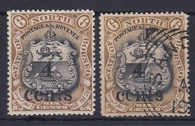 NORTH BORNEO 1904 SG 147 4c ON 6 c CLEAN M,MINT AND VFU
