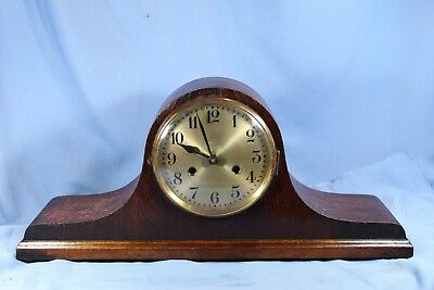 German Antique Mantle Clock Tambour Beautiful Original Looks & Runs Great