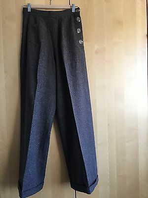 Vivien of Holloway Brown 1940s Swing Trousers (VOH size 14)