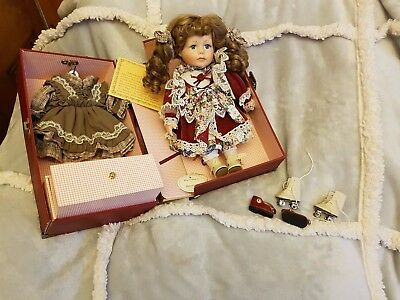 Vintage porcelain doll haunted? in own travel box PLEASE READ must sell