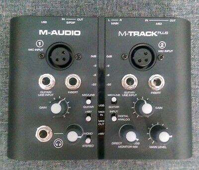 M-Audio M-Track plus Interface 24 Bit/96 KHZ inkl. Protools Express - TOPZUSTAND