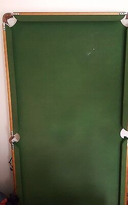 Snooker table 6 x 4 ft with legs