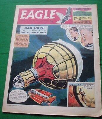 Eagle  #9  4/3/1961 With Handley Page 113 Jet Liner  Stunning Cutaway Drawing