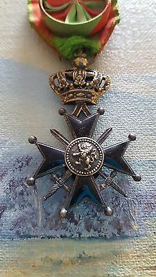 Belgian Military Cross 1st Class + Ypres Comrade Medal