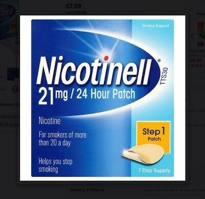 Nicotinell 21 mg Nicotine Patch Helps You Stop Smoking High Quality Brand New