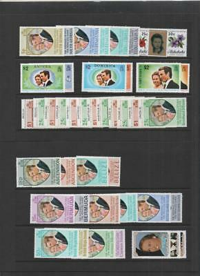 British Colonies 1973 Royal Wedding Omnibus Mnh