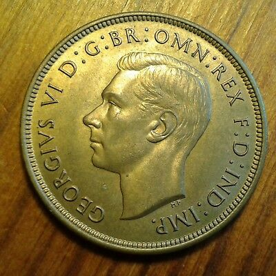 1937 Matte Proof George VI Penny (one of only FOUR to be minted) KM#845/Sp#4114
