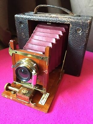 Antique Victorian Eastman Kodak No. 4 Cartridge - Red Bellows - Serial 30164