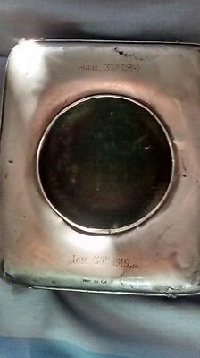 antique silver cased travelling  clock case only