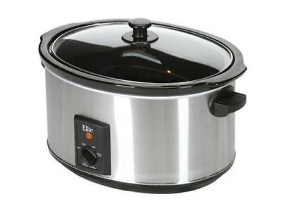 Elite Supreme 8.5 Qt. Stainless Steel Slow Cooker